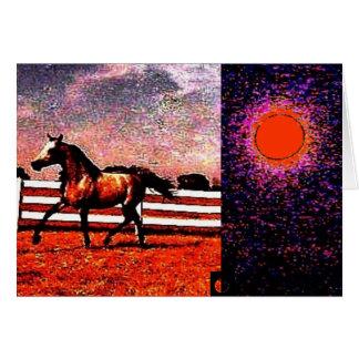 Carte cheval cosmique