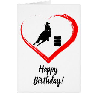 Carte Cheval d'emballage de baril et anniversaire de