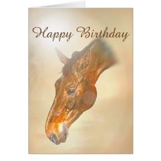 Carte Cheval, étude de tête, joyeux anniversaire