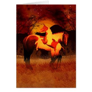 Carte Chevaux d'imaginaire - lueur d'automne