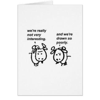 Carte Chèvres médiocrement tirées