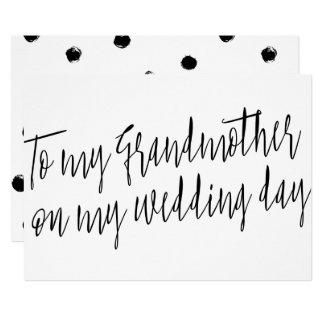 """Carte Chic """"à ma grand-mère mon jour du mariage """""""