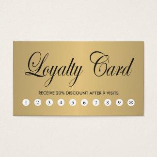 Carte chic élégante simple de fidélité d'or de