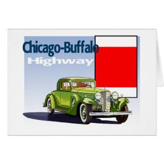 Carte Chicago - traînée automatique nationale de route