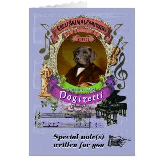Carte Chien animal de compositeur de Dogizetti de