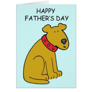 Carte Chien heureux de fête des pères