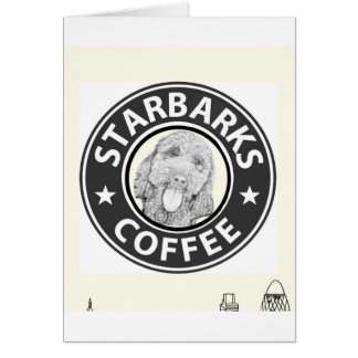 Carte chien Starbucks
