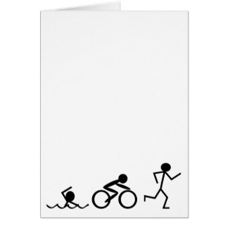 Carte Chiffres de bâton de triathlon