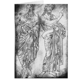 Carte Chiffres de deux apôtres ou prophètes