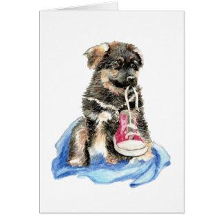 Carte Chiot mignon de berger allemand, chien, animal de
