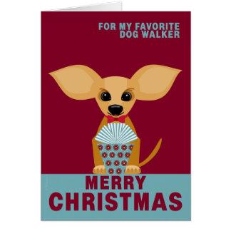 Carte Chiwawa préféré de marcheur de chien de Joyeux