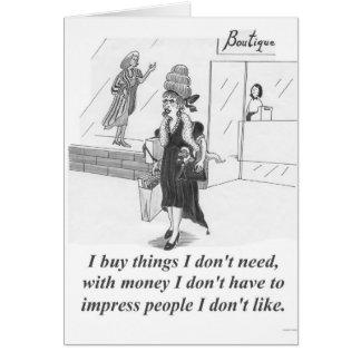 Carte Choses de achat, Madame de achat