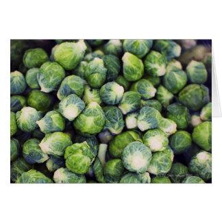 Carte Choux de bruxelles frais vert clair