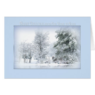 Carte Christmas Snow Scène-De Our Home rêveur au vôtre
