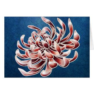Carte Chrysanthème de batik