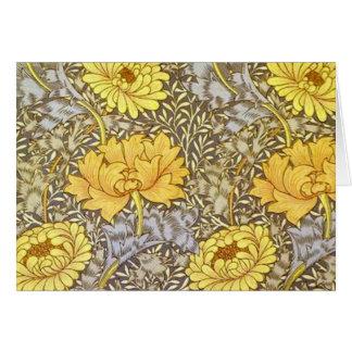 Carte chrysanthème par William Morris