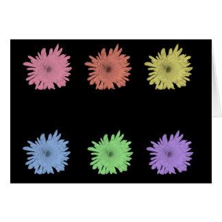 Carte Chrysanthèmes en pastel, vides
