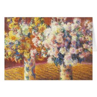 Carte Chrysanthèmes par Monet
