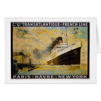 Carte Cie. Gle. Voyage vintage de croisière de