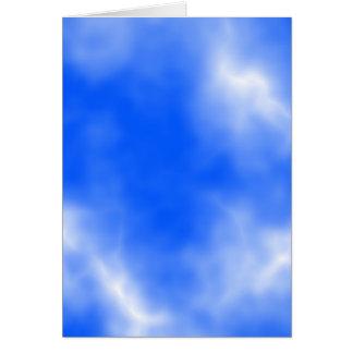 Carte Ciel bleu avec les nuages blancs