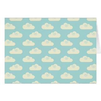 Carte Ciel bleu de nuages heureux