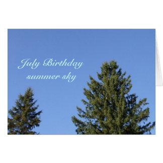 Carte Ciel d'Anniversaire-été de juillet