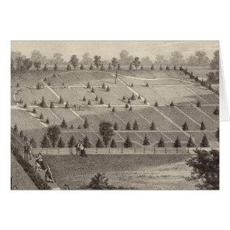 Carte Cimetière atlantique de vue, village de Squan, NJ