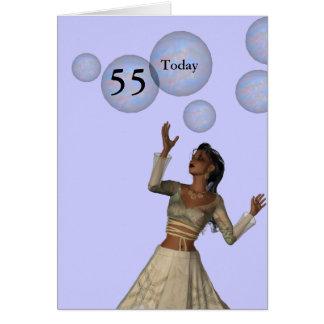 Carte cinquante-cinquième Anniversaire