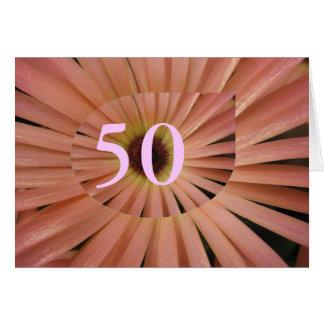 Carte cinquantième Anniversaire