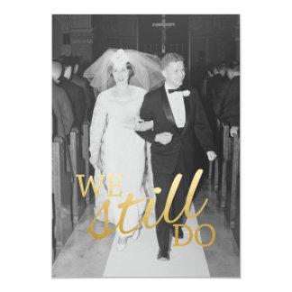 Carte cinquantième Anniversaire de mariage avec la photo