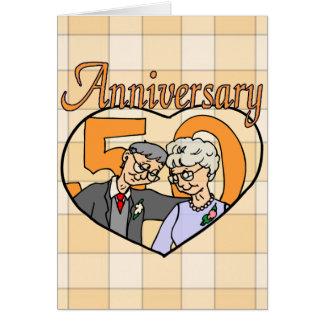 Carte cinquantième Cadeaux d'anniversaire de mariage