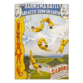 Carte Cirque vintage de Barnum et de Bailey