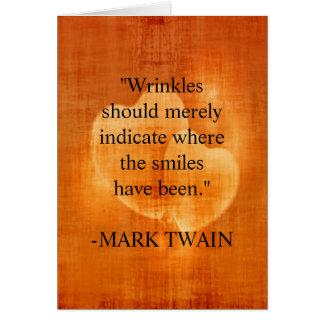 Carte Citation d'anniversaire de Mark Twain avec des