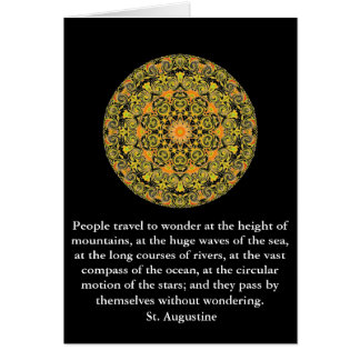 Carte Citation d'aventure de voyage de St Augustine