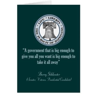 Carte Citation de Barry Goldwater (grand gouvernement)