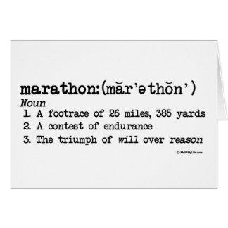 Carte Citation de définition de marathon
