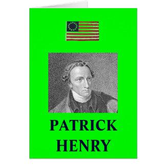 CARTE CITATION DE PATRICK HENRY