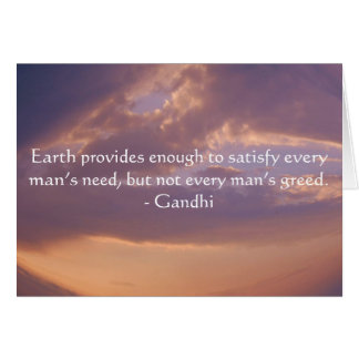 Carte Citation de sagesse de Gandhi avec le ciel de