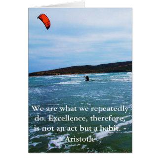 Carte Citation d'excellence d'Aristote