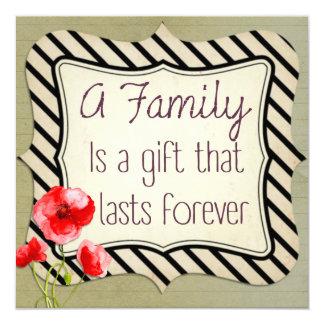 Carte Citation inspirée de famille