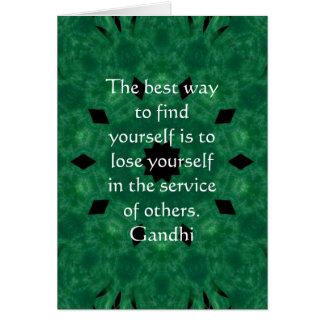Carte Citation inspirée de Gandhi au sujet de