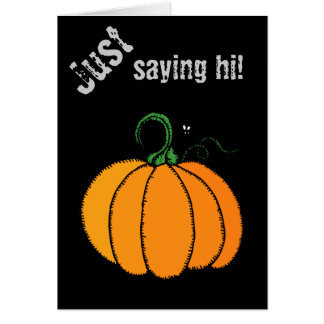 Carte Citrouille - courge, courge, Halloween, automne