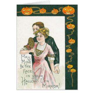Carte Citrouille de Jack-o'-lantern de mariage de miroir