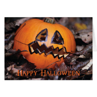 Carte Citrouille Halloween