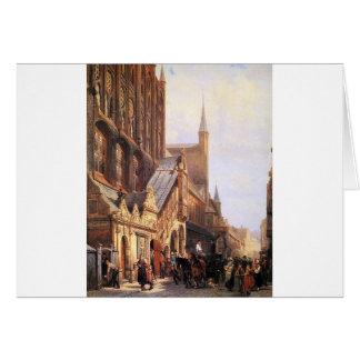 Carte Cityhall dans Lbeck par Cornelis Springer