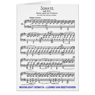 Carte Clair de Lune-Sonate-Ludwig-Beethoven