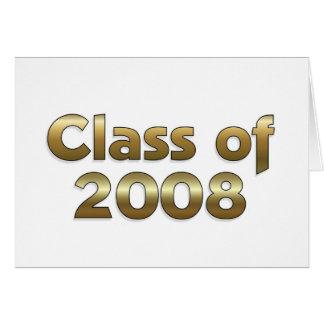 Carte Classe de 2008 - or