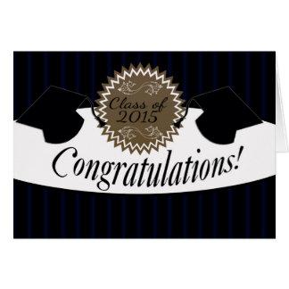 Carte Classe de félicitations d'obtention du diplôme de