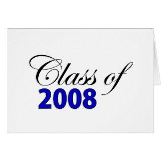 Carte Classe du bleu 2008