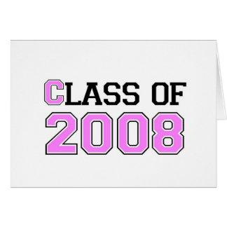 Carte Classe du rose 2008